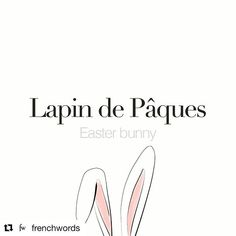 #Repost @frenchwords with @get_repost Lapin de Pâques (masculine word) Easter bunny /la.pɛ də pɑk/ Drawing: @merritkoek #frenchwords