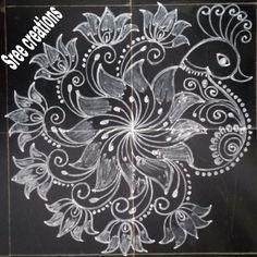 Easy Rangoli Designs Diwali, Indian Rangoli Designs, Simple Rangoli Designs Images, Rangoli Designs Flower, Free Hand Rangoli Design, Rangoli Border Designs, Rangoli Designs With Dots, Beautiful Rangoli Designs, Rangoli Borders