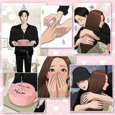 Korean Drama Tv, Cute Canvas Paintings, Aesthetic Painting, Webtoon Comics, Yuu, Actor Model, Anime Art Girl, True Beauty, Cartoon Art