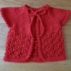 Baby Cherry Blossom Sweater - free knitting Pattern