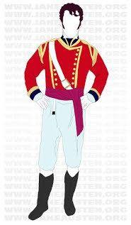 """Regina Jeffers -- Militia Officers in Jane Austen """"Pride and Prejudice"""" (Image is of Wickham's costume.)"""