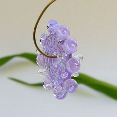Lampwork Beads Lavender Glass Beads Handmade door Rachelcartglass