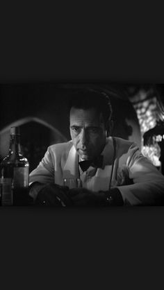 """""""Of all the gin joints in all the towns in all the world, she walks into mine."""" Rich Blane. Casablanca (1941)"""