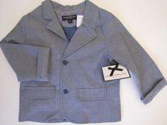 WENDY BELLISSIMO Boys Chambray Cotton Blue Blazer 6 or 18 Months Ret $50 NWT #WendyBellissimo.  Matching tie also available.