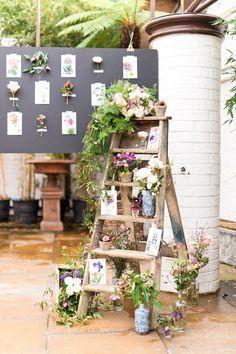 rustic ladder wedding decor / http://www.deerpearlflowers.com/rustic-outdoor-wedding-ideas-from-pinterest/