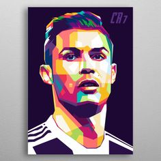 Cristiano Ronaldo In WPAP poster by from collection. Portraits Pop Art, Portrait Art, Pop Art Posters, Poster Prints, Wpa Posters, Art Football, The Rok, Famous Artists Paintings, Ronaldo Wallpapers
