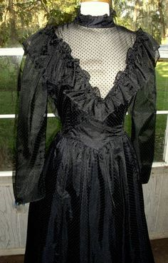 Gunne Sax Dress  Victorian Goth Large