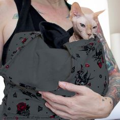 Pet Sling Sling for Cats or Dogs Fleece fully Lined SLINX Hand Free Sphynx Cat Carrier Great Gift for Pets or Pet Lovers. by SimplySphynx #etsy #etsyseller #simplysphynx #sphynx #sphynxcat #sphynx #catclothes #sphynxcatclothes