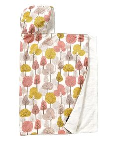 Look at this White & Pink Treetops Hooded Towel on #zulily today!