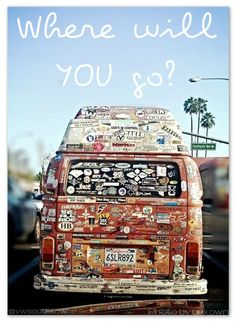 VW BUS bumper stickers (wonder who the original photographer is, great picture)