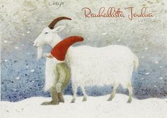 Yule goat and his tomte
