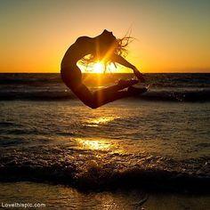 Dance to the Sunset photography sunset beach girl dancer ocean dance jump