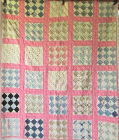 Antique Vintage PATCHWORK BLOCK Quilt  by AntiqueQuiltRevival, $125.00
