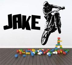 Personalised Motocross Motorbike Wall Art Sticker