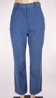 TILLEY ENDURABLES New Pants Size 10 M Blue Faded Tencel Travel NWT $139 #TilleyEndurables #CasualPants