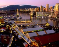 Granville Island market in Vancouver. Take the little four-seater ferries that beatle across the inlet for delightful views and a fun way of getting across town.