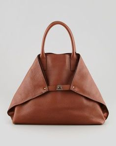 love this elegant Ai Cervo Medium Leather Messenger Bag, Brown by Akris at Bergdorf Goodman. My Bags, Purses And Bags, Jean Purses, Fashion Bags, Fashion Accessories, Style Fashion, Leather Handbags, Leather Bags, Leather Backpacks