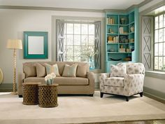 Summer #Decorating: Revive Your Furniture By Pairing A Pattern Print With A Solid Color For An Exciting Interior! #slipcovers