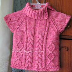 Жилет спицами для девочек -  Модное вязание