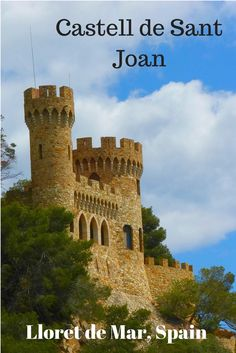 Castell de Sant Joan, Lloret de Mar Costa Brava, Spain