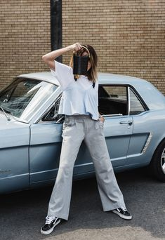 Stella McCartney, Stella McCartney Bag, Alter Croc Bag, Farfetch, Mustang, Car Editorial, Outfit, Amanda Shadforth, Oracle Fox