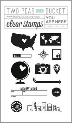 You Are Here stamp set