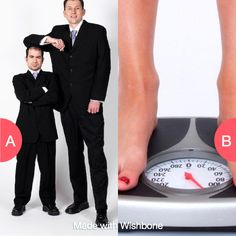 Would you rather be half your size or double your weight? Click here to vote @ http://getwishboneapp.com/share/553747