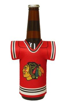 Chicago Blackhawks Bottle Jersey Holder #ChicagoBlackhawks
