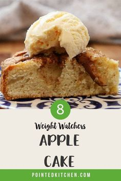 The Apple Cake has been adapted to be more WW friendly but still remains tasty