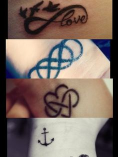 Tattoos love these especially the heart with the infinity symbol in the middle. That's on my moms headstone! Another neat tattoo idea for her :)