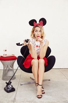 Hold the phone! Find this charming Minnie Mouse-print blouse from LC Lauren Conrad.