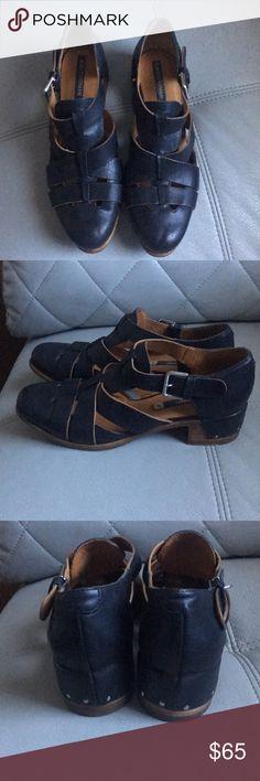 "Alberto Fermani Italian leather Sandals Pre owned. Good condition. Good condition . Closed toe sandals.  1.5"" heels. Made in Italy. Alberto Fermani Shoes Sandals"