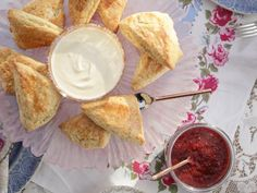 """Quick Strawberry Jam from Valerie's Home Cooking """"Traditional Tea-Less Tea Party"""" episode on Food Network Jam Recipes, Cooking Recipes, Cooking Food, Cooking Salmon, Sweet Recipes, Food Network Recipes, Food Processor Recipes, Orange Scones, Recipes"""