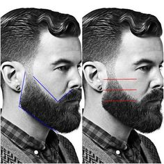 How to trim his beard? Personal tutorial and tips Beard Trimming Styles, Trimming Your Beard, Hair And Beard Styles, Bart Styles, Beard Cuts, Bald With Beard, Curly Hair Tutorial, Short Beard