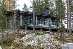 Mountain Hut - korkealta kotoisin.    Honkatalot.fi Mountain, Cottage, Cabin, House Styles, Winter, Summer, Plants, Home Decor, Winter Time