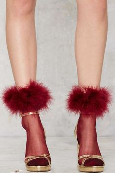 Feather Forecast Sheer Socks - Accessories | Socks + Legwear | Party Shop | Fur