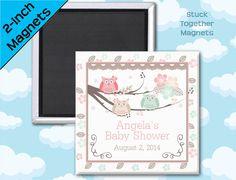 Owl Baby Shower Favor Magnets by Stuck Together Magnets, $23.00