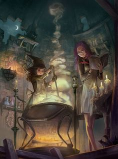 Just came across this and thought it was too cute not to include.  picture:  Witch's Lab by Hyo Seok Kim
