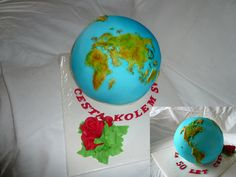 cake- globe , (the) Earth  Dort zeměkoule