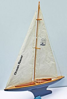 """""""Ocean Racer"""" toy pond yacht by Skipper Yachts."""