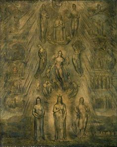 William Blake was a Gnostic. An Allegory of the Spiritual Condition of Man by William Blake 1811 William Blake Paintings, Tarot, William Black, Art Uk, Sacred Art, Fantastic Art, Art Techniques, Great Artists, Illustration Art