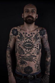 Meditations in Atrament - Tattooing, Ephemera, and Fine Art by Thomas Hooper Vintage Chest Tattoo, Vintage Tattoos, Tattoo Vieja Escuela, Tattoos For Guys, Cool Tattoos, Spooky Tattoos, Badass Tattoos, Amazing Tattoos, Black Tattoos