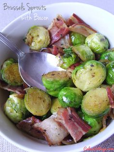 Brussels Sprouts with Bacon - Best recipe I've ever had with Brussel Sprouts. It is to die for.