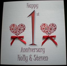 First Wedding Anniversary Gifts Husband - Wedding and Bridal Inspiration Aniversary Cards, Wedding Aniversary, First Wedding Anniversary Gift, Anniversary Gifts For Husband, Anniversary Ideas, Diy Wedding Gifts, Wedding Cards, Wedding Congratulations Card, Engagement Cards