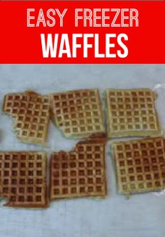 These freezer waffles guarantee a yummy breakfast or after-school snack your kids can grab any time from your freezer!