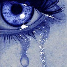sad eye by Jaime de la Torre (de la torre art) with ballpoint pen - Design Art Art Drawings Sketches, Pencil Drawings, Stylo Art, Tears Art, Crying Eyes, Eyes Artwork, Ballpoint Pen Drawing, Aesthetic Eyes, Crazy Eyes