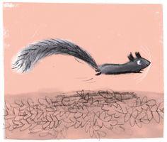 Ali Pye - Busy squirrel doodle.