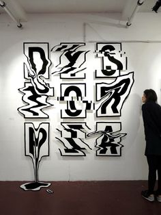 Rylsee- Dystorpia Typographic Installation.