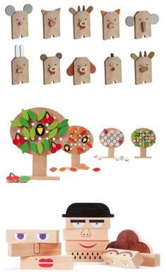 """""""wooden toy animals and puzzles"""""""