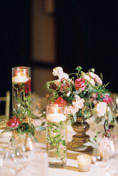 Featured photo: Kristin La Voie Photography; wedding centerpiece idea